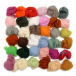New              36 Colors Retro Merino Wool Fibre Roving Sewing Kit for Needle Felting
