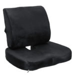 New              Memory Foam Seat Cushion Lumbar Back Support