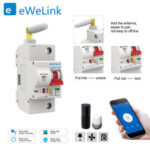 New              eWelink 1P 16A WiFi Smart Switch Circuit Breaker Automatic Recloser Overload Short Circuit Protection for Amazon Alexa Google Home