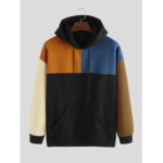 New              Mens Loose New Fashion Casual Color Matching Stitching Sweat