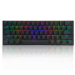 New              FEKER 60% NKRO bluetooth 4.0 Type-C Gateron Switch PBT Double Shot Keycap RGB Mechanical Gaming Keyboard–Black