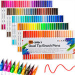 New              120 Colors Double-headed Marker Pen Art Brush Watercolor Dual Tip Pens
