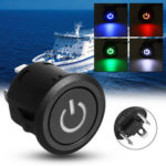 New              DC 12V 22mm Auto Car LED Autolock Power Button Plastic Push Button ON/Off Light Switch