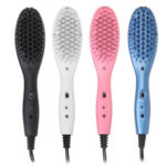 New              Electric Ceramic Heat Hair Straightening Brush Styler Straightener Comb Massager
