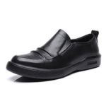 New              Genuine Leather Pure Color Business Casual Flats