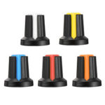 New              150pcs WH148 Potentiometer Knob 15X17mm 6mm Shaft Hole AG2 Yellow Orange Blue White Red Power Amplifier Knob 5 Color
