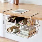 New              Multi-purpose Hanging Under Desk Shelf Bookshelf Storage Rack Cabinet Basket Household Home Office Kitchen Organizer
