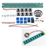 New              DIY Electronic Kit Set NE555 Keyboard Kit Eight Notes DIY Electronic Production Parts SolderingPractice Fun Training