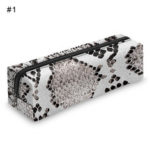 New              3D Digital Snakeskin Print Pencil Case Zipper Cosmetic Bag Pen Box Stationery
