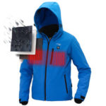 New              TENGOO USB Electric Heated Coats Intelligent Down Jacket Waterproof Goose Feather