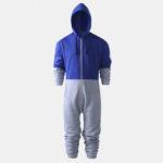 New              Men Fashion Velvet Thick Contrast Color Zipper Jumpsuit