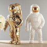 New              3 color Space Man Sculpture Astronaut Fashion Vase Ceramic Flower Planter Vase Space Man Sculpture Cosmonaut Home office Decor