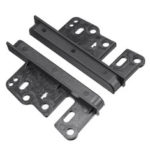 New              Universal Car Radio Panel Fascia Mounting Bracket Dash Mount Trim for 2 Double Din  Stereo
