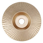 New              Drillpro 110mm Tungsten Carbide Wood Shaping Disc Carving Disc 16mm Bore Sanding Grinder Wheel for 100 115 Angle Grinder