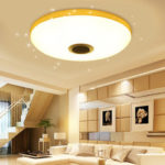 New              108LED RGBW Dimmable Ceiling Light Smart Music Bluetooth APP Remote Control