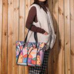 New              Women Colorful DIY Lamb Hair Bag Tote Bag Shoulder Bag