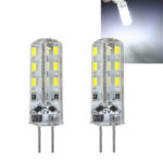 New              Kingso G4 3014 SMD 1.5W Non-dimmable Pure White LED Light Bulb for Car Boat Chandelier Indoor Use DC12V