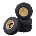 New              4PCS HG 6ASS-P06 Tires & Wheels Rims for P602 1/12 RC Car Model Spare Parts