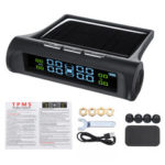 New              Wireless Solar TPMS Car Tire Pressure Monitor System + 4 External Sensors 0-5 Bar