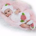 New              11″ Lifelike Newborn Reborn Silicone Vinyl Baby Girls Doll + Clothes Gift