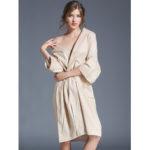 New              Plus Size Cotton Half Sleeve Kimono Robe Cotton Nightgown