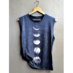 New              Casual Print Crew Neck Sleeveless Overhead Tank Tops