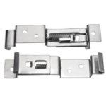 New              Stainless Steel Car License Plate Frame Holder Trailer Number Plate Clips Spring