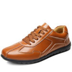 New              Genuine Leather Non-slip Casual Business Office Oxfords