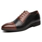 New              Microfiber Leather Brogue Carved Formal Business Oxfords