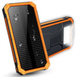 New              Waterproof 8000mAh Portable Solar Charger Dual USB Battery Power Bank