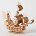 New              DIY 3D Wooden Handmade Assemble Three-dimensional Marine Sailing Ship Model Building Toy