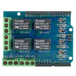 New              Relay Shield 5V 4-Channel Relay Extension Board Module OPEN-SMART for Arduino – products that work with official Arduino boards