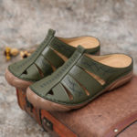 New              LOSTISY Women Hollow Out Comfy Slip On Casual Summer Sandals