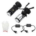 New              2PCS 90W LHD/RHD H4 Bi-LED Hi/Lo Mini Projector LED Headlights Lens Retrofit Bulb 12V