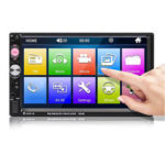 New              7023B 7 Inch 2Din Wince Car Stereo Radio Auto MP5 Player HD bluetooth Hands-free Touch Screen FM AUX USB Support Reversing Image