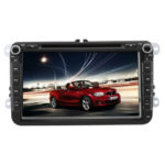 New              8Inch 2DIN Car DVD Player GPS Navi Stereo Radio bluetooth FM AM RDS with 4LED Camera For VW Golf MK5 Passat Seat