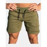 New              Mens Fashion Drawstring Slim Fit Solid Color Casual Shorts
