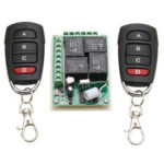 New              433MHz 12V 4CH Channel Relay RF Wireless Remote Control Switch 2 Transmitter+Receiver