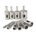 New              Drillpro 10pcs Diamond Drill Bit Set 6mm to 30mm Diamond Tools Hole Saw Cutter for Glass