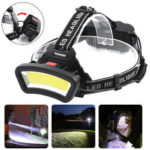 New              BIKIGHT TH-T123 600LM COB LED Headlamp USB Rechargeable 4 Modes Flashlight Mini Waterproof Headlight Torch Built-in 18650 Battery