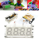 New              4-Digit LED Digital Electronic Micro Controller DIY Kit Clock Time Thermometer