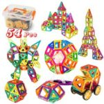 New              54Pcs 3D DIY Magnetic Bricks Building Blocks Kids Educational Toys