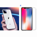 New              Baseus Ultra-thin Transparent Soft TPU Protective Case + Bakeey Anti-explosion Tempered Glass Screen Protector for iPhone 11 Pro Max 6.5 inch