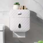 New              Waterproof Wall-mounted Tissue Box Multi-function Storage Toilet Paper Shelf Holder Bathroom Accessories