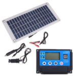 New              50W Dual USB 12V/5V Solar Panel with Car Charger 10/20/30/40/50A USB Solar Charger Controller for Outdoor Camping LED Light