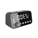 New              DAB + FM Radio LED Digital Alarm Clock Desk Table Snooze Timer with Dual USB