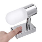 New              12V Dimming Touch Control LED Reading Spot Light Swivel Bedside Wall Lamp For RV Boat Caravan Motorhome