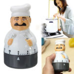 New              Kitchen Timer Analogue Alarm Clock Gadget Bell 60 Minute For Chef Cooking Food