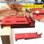 New              Woodworking Depth Measuring Ruler Aluminum Alloy Depth Gap Gauge