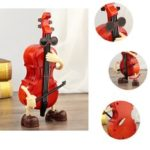 New              Vintage Mini Violin Music Box Tabletop Craft Home Ornament Decor Birthday Gift